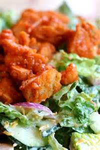 Fried Buffalo Chicken Salad