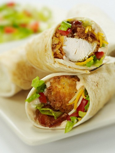 Crispy Chicken BLT Wrap
