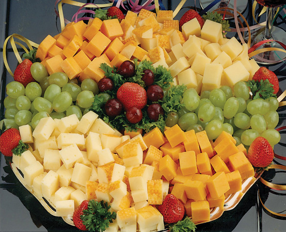 Cheese and Fruit Tray with Crackers