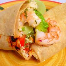 Avocado Shrimp Coleslaw Wrap