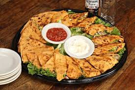 Chicken & Mexican Cheese Quesadilla  Tray (15-20ppl)